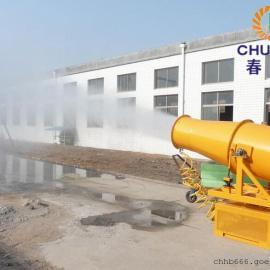 内蒙车载式喷雾除尘环保喷雾机工地煤场抑尘雾炮机设备操作简单