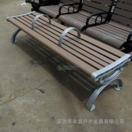 塑木公园长凳背面