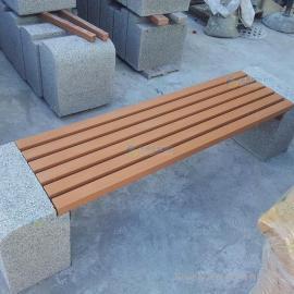 广州市塑木公园长凳