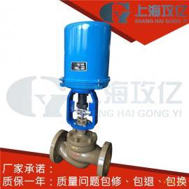 DN565不绣钢电动调节阀,ZAZP-40P-dn100电子式电动单座调节阀