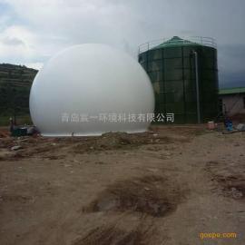 规模化餐厨垃圾处理沼气收集利用项目1500立方独立双膜气柜