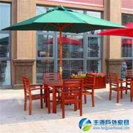 广东户外休闲桌椅组合实木连体价格