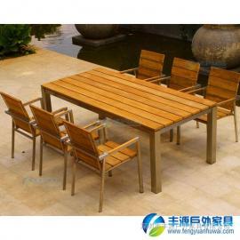 汕头市户外实木休闲桌椅图片