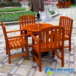 广州市阳台实木休闲桌椅图片
