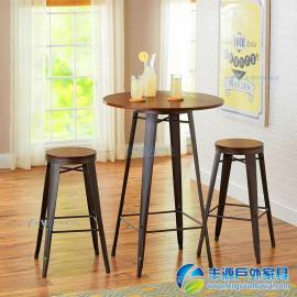 惠州市阳台实木休闲桌椅价格