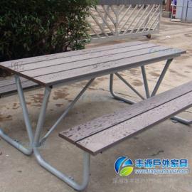 惠州市塑木休闲桌椅图片