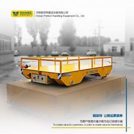 液压行走地面轨道车转运容器罐超低平板车低压电动平车