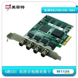美菲特M1120 4路SDI超高清音视频采集卡