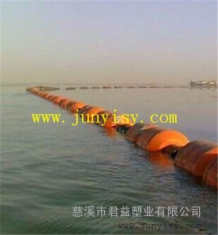 湖州河道清淤管道浮筒批发 孔径300管道夹管浮筒