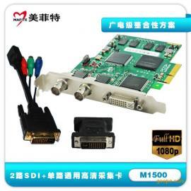 美菲特M1500 单路通用高清+双路SDI全高清采集卡