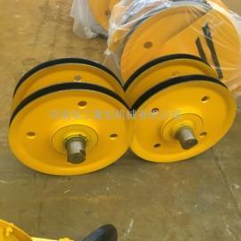 山东轴承滑轮组厂家 10Tφ430轧制滑轮组 吊钩、抓斗用