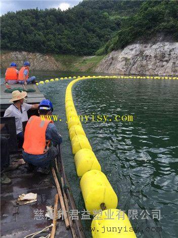 可穿绳拦污浮体 夹钢丝绳警示拦污浮体