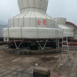 供应河南金创玻璃钢圆型逆流式冷却塔优质生产厂家