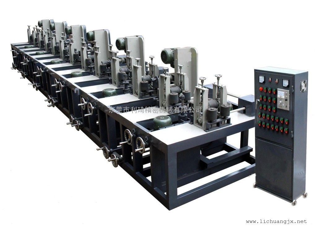 六组方管抛光机 方管抛光机 方管拉丝机