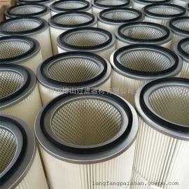 厂家直销PTFE覆膜除尘滤芯定做覆膜除尘滤筒喷砂机滤筒抛丸机滤筒