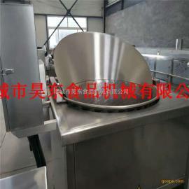 自动控温蒜片油炸机 自动搅拌蒜片油炸设备