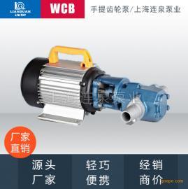 不锈钢 耐腐蚀齿轮油泵 手提式微型齿轮泵WCB50 0.55KW