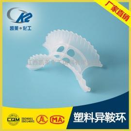 塑料异鞍环填料 聚丙烯异鞍环 马鞍环化工填料