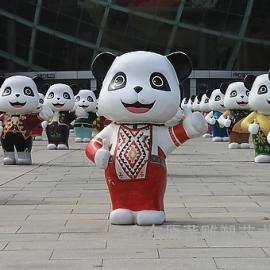 定做卡通功夫熊猫雕塑 越南街头雕塑批发东莞原著雕塑工厂制作