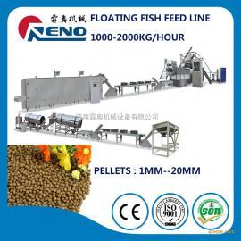 济南霖奥供应 鱼饲料生产线 浮水鱼饲料生产线 鱼饲料机器
