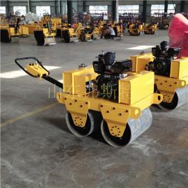 手扶小型双钢轮振动压路机厂家直销济宁专业路面机械