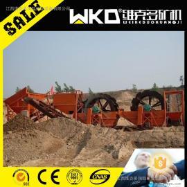 江西维克多供砂石料除杂水轮设备 XS2406单轮斗洗砂机