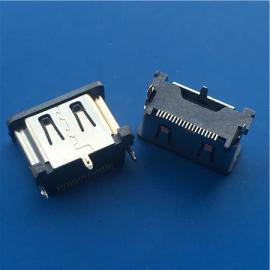 HDMI立式贴片10.5mm母座180度贴板SMT直立式
