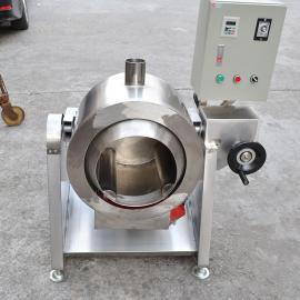 手动牛肉滚筒拌料机 不锈钢燃气搅拌炒锅 煤气炒锅设备