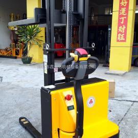 半电动叉车电动堆高车1吨2吨液压升高车搬运升降车装卸车铲车