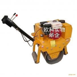 厂家直销小型草坪压实沟槽回填压路机 手扶式单钢轮振动轧道机