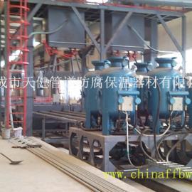 小型管道多管内喷丸(砂)除锈生产线 管道内除锈设备