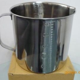 304不锈钢量杯日本进口量杯一体成型带内外刻度量杯5L