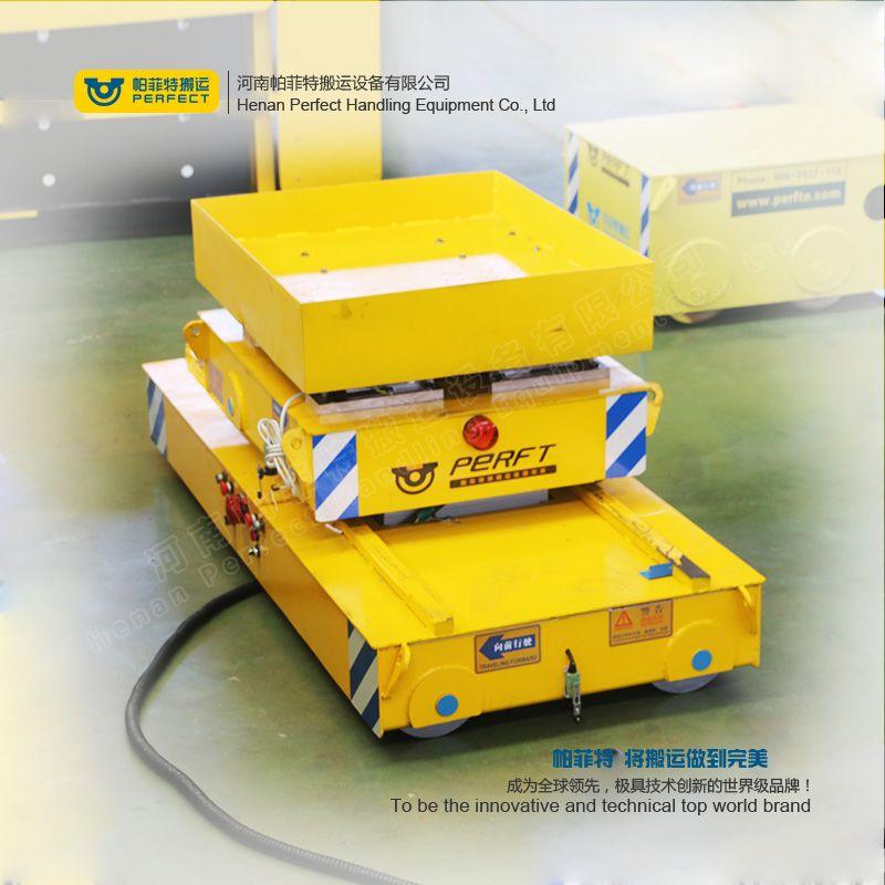 拖线式平板车车间用摆渡车电动小平车重型轨道车