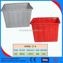 常州鼎唐塑�IK300L方箱/300L塑料方箱