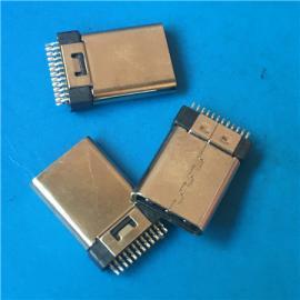 夹板 USB 3.1公头TYPE-C 24P夹板铆合不带板
