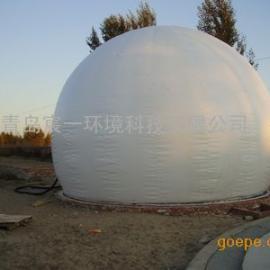 钢材厂污水处理环节专用3000立方双膜沼气储气柜