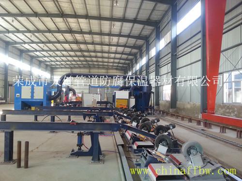 *生产低噪音型管道内外环氧粉末喷涂防腐生产线