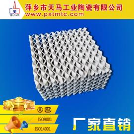 萍乡天马批发 规整填料 450Y 陶瓷波纹填料