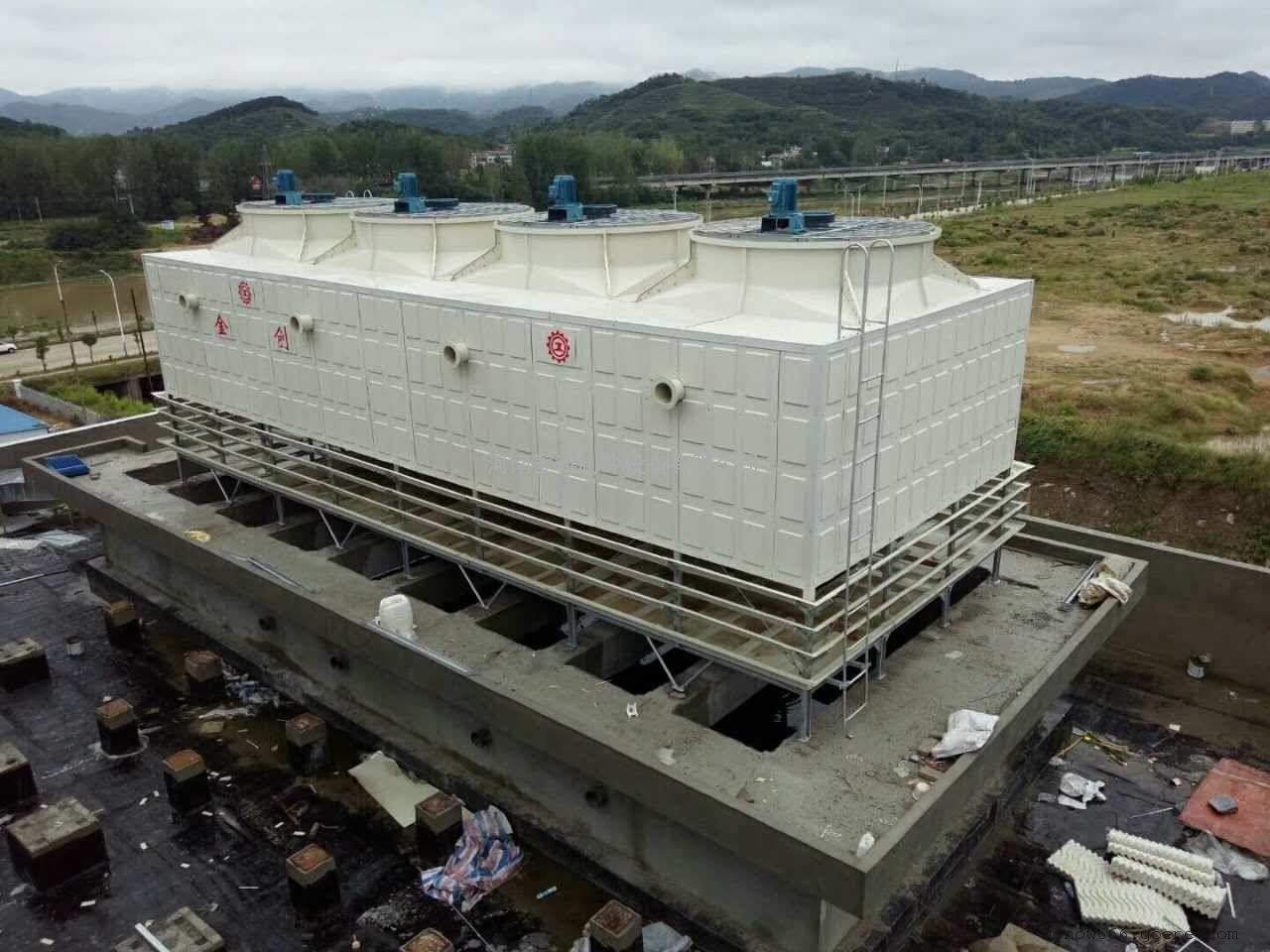 优质金创低噪音型玻璃钢逆流式方型组合式冷却塔厂家直销