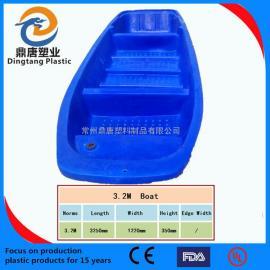 江苏常州3.3米塑料渔船厂家直销