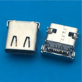 TYPE C 母座14P USB 3.1母座SMT前插后贴
