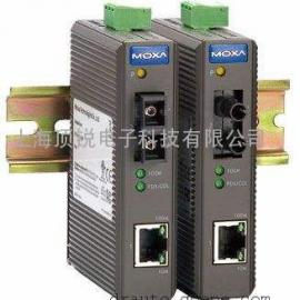 MOXA磨砂IMC-21-M-SC 工业型光电转换器