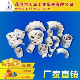 天马生产优质 陶瓷散堆填料 鲍尔环 拉西环 阶梯环等