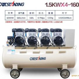 奥突斯OTS-1500x4-160L静音无油空气压缩机