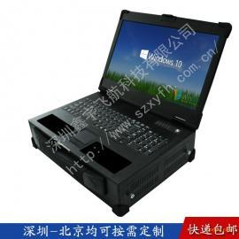 17寸定制抽拉硬盘工业便携机外壳军工电脑加固笔记本机箱铝