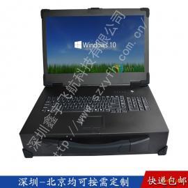 19寸工业便携机机箱军工电脑加固笔记本外壳抽拉硬盘视频采集