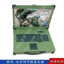 19寸定制工业便携机机箱铝军工电脑外壳加固笔记本机箱