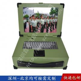 15寸3U定制军工电脑外壳加固笔记本工业便携机机箱采集铝