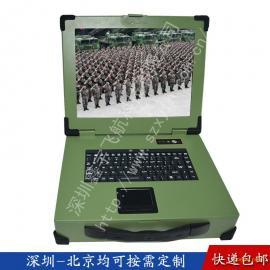 15寸工业便携机机箱防水键盘定制军工电脑外壳加固笔记本采集