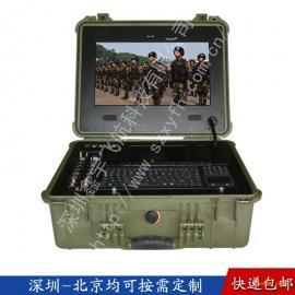 17寸塑料工业便携机机箱定制军工加固电脑笔记本视频采集